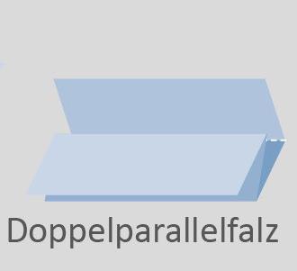 Skizze der Falzart Doppelparallelfalz
