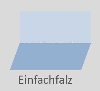 Skizze der Falzart Einfachfalz