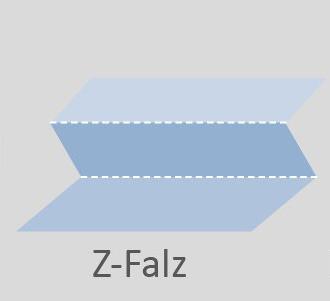 Skizze der Falzart Z-Falz