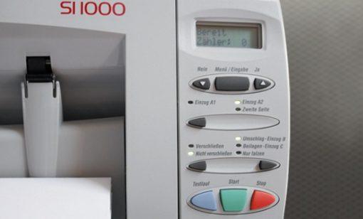 Kuvertiermaschine SI 1000 Display