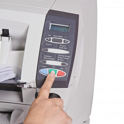 Kuvertiermaschine SI 1050 Display