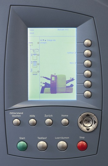 Kuvertiermaschine SI 4400 Display